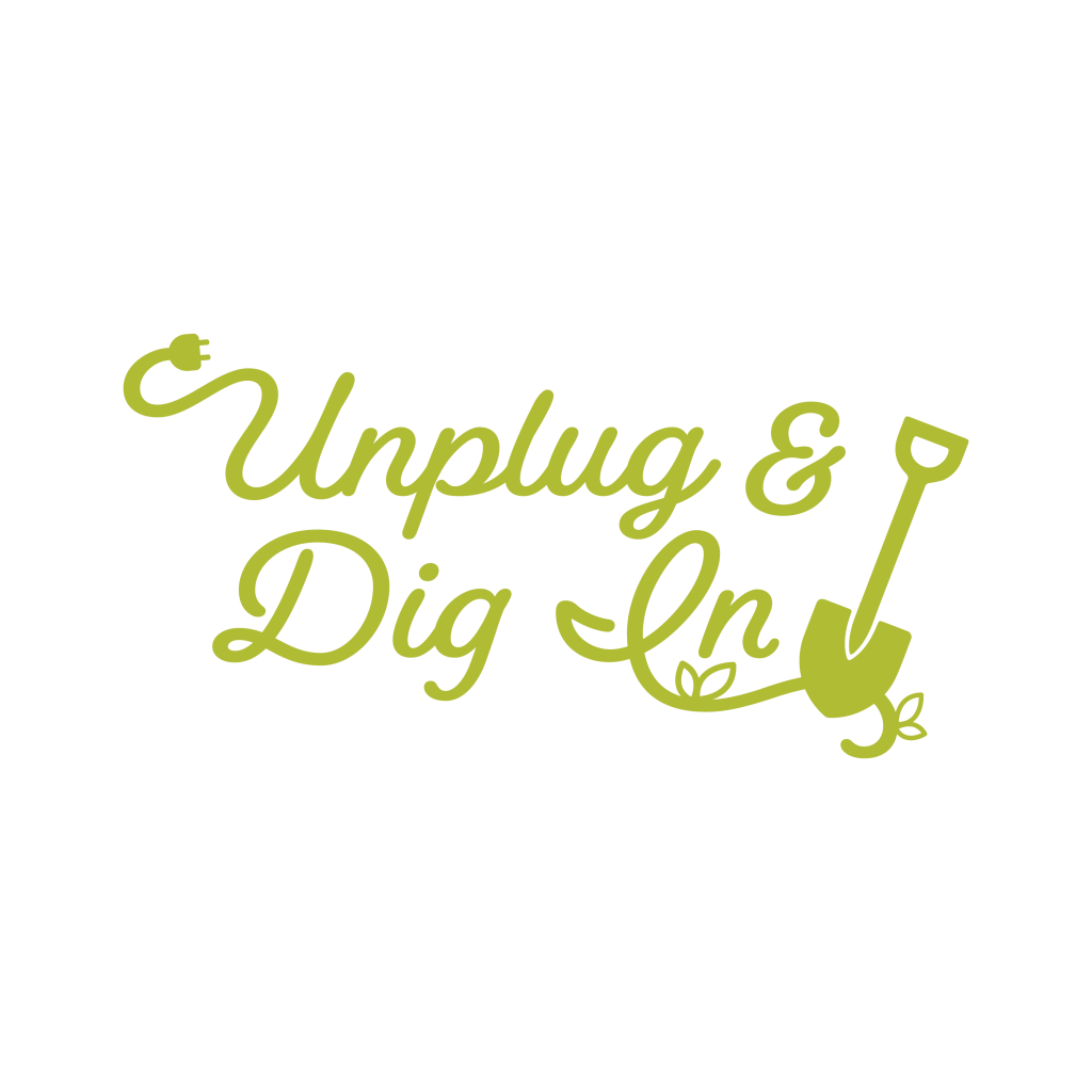 Open the Unplug and Dig In logo graphic