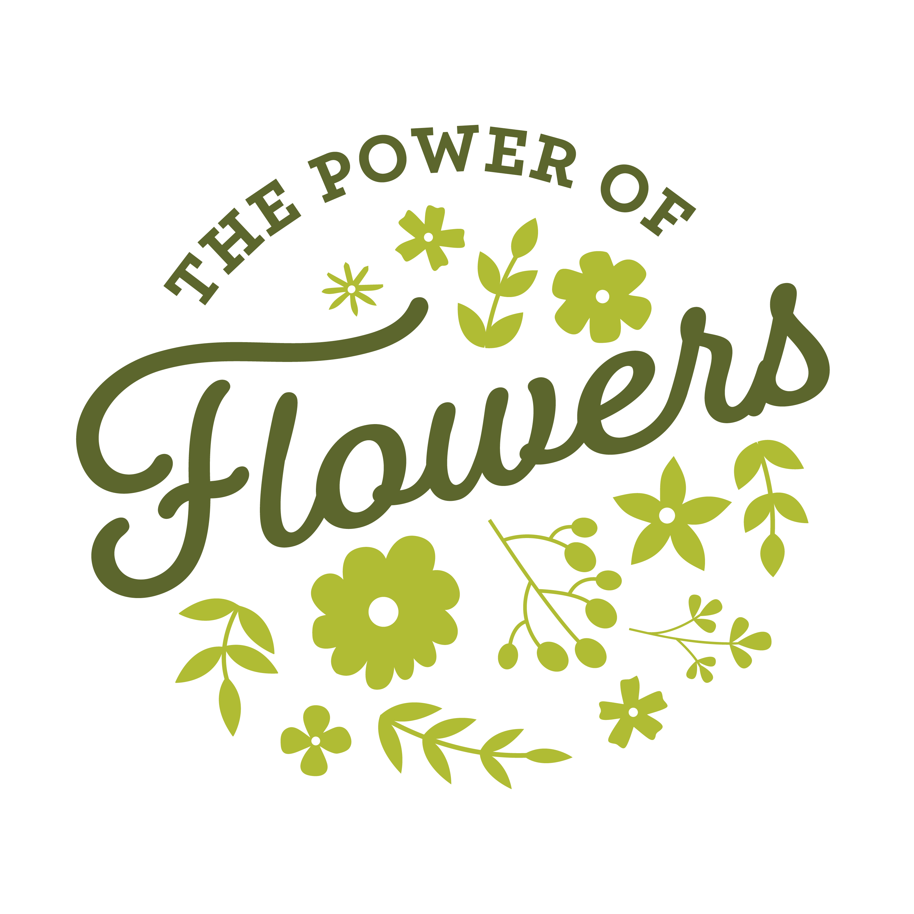 Open The Power of Flowers logo graphic